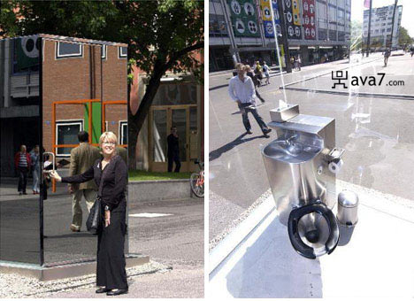 see-throughpublic toilet