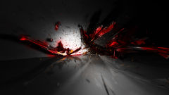 3d abstract red black explosion impressive