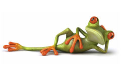 3d lazy funny frog cgi green