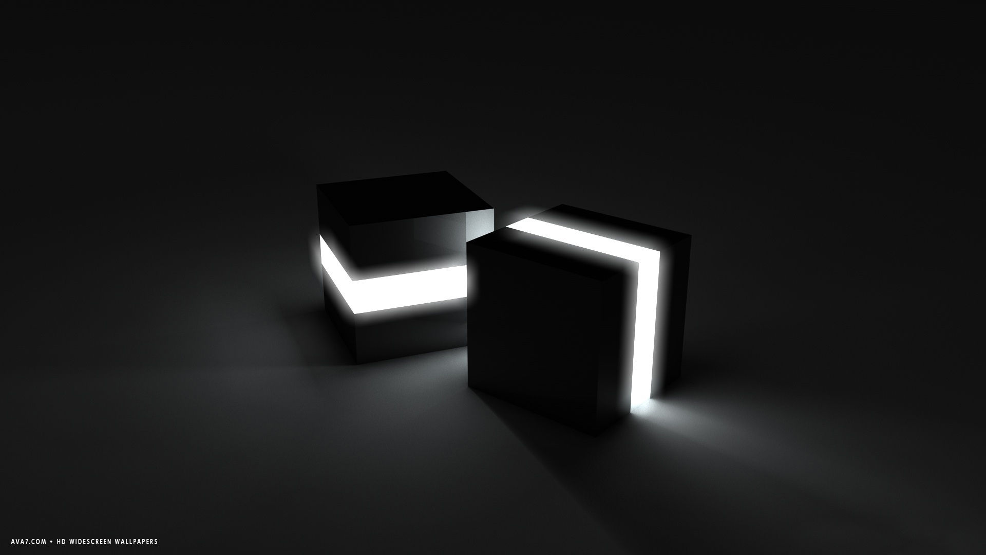 3d Neon Cubes Black Light Glowing Simple Hd Widescreen