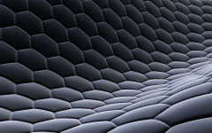 3d hexagon texture fabric steel gray grid honeycomb