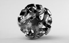 3d glass abstract sphere ball
