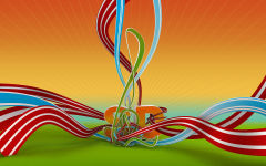 3d sd ribbons abstract wavy lines stripes vector multicolor
