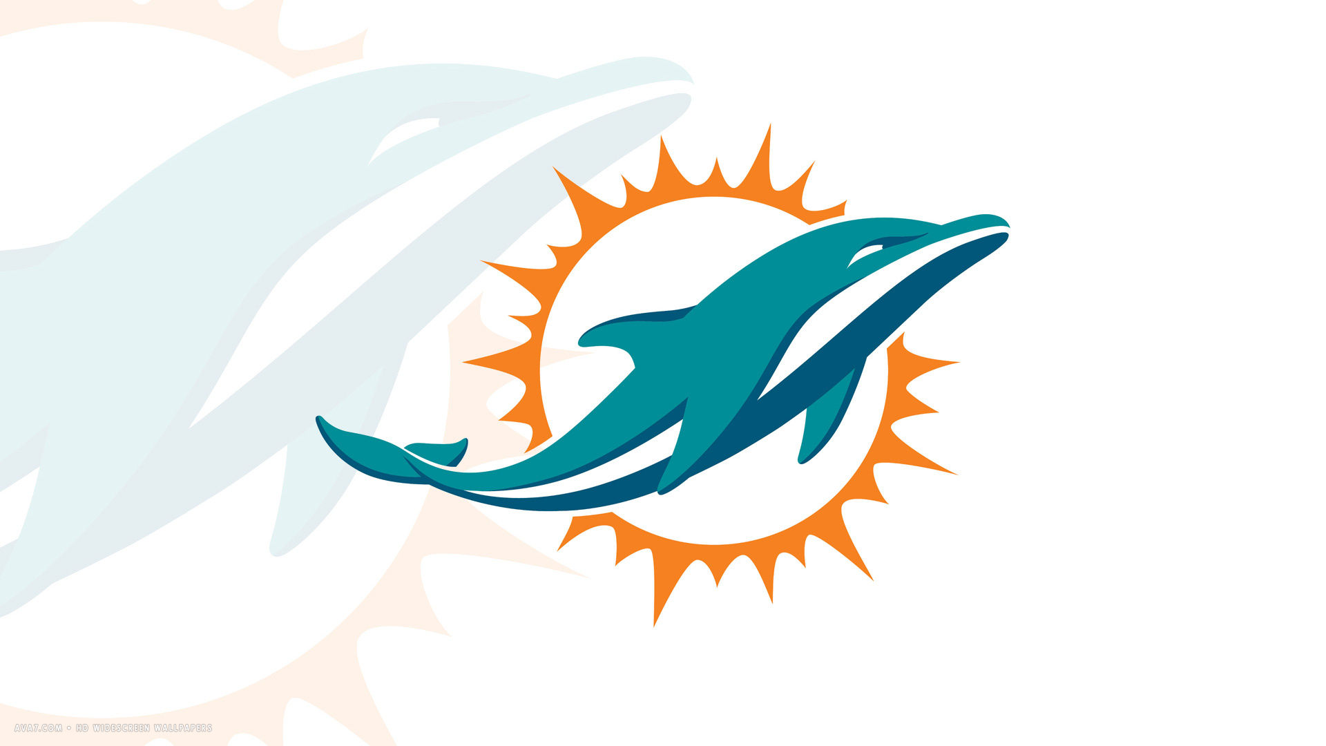 Click for 24 more beach coloring pages - Miami Dolphins New Logo 1920x1080 Hd Widescreen Wallpaper