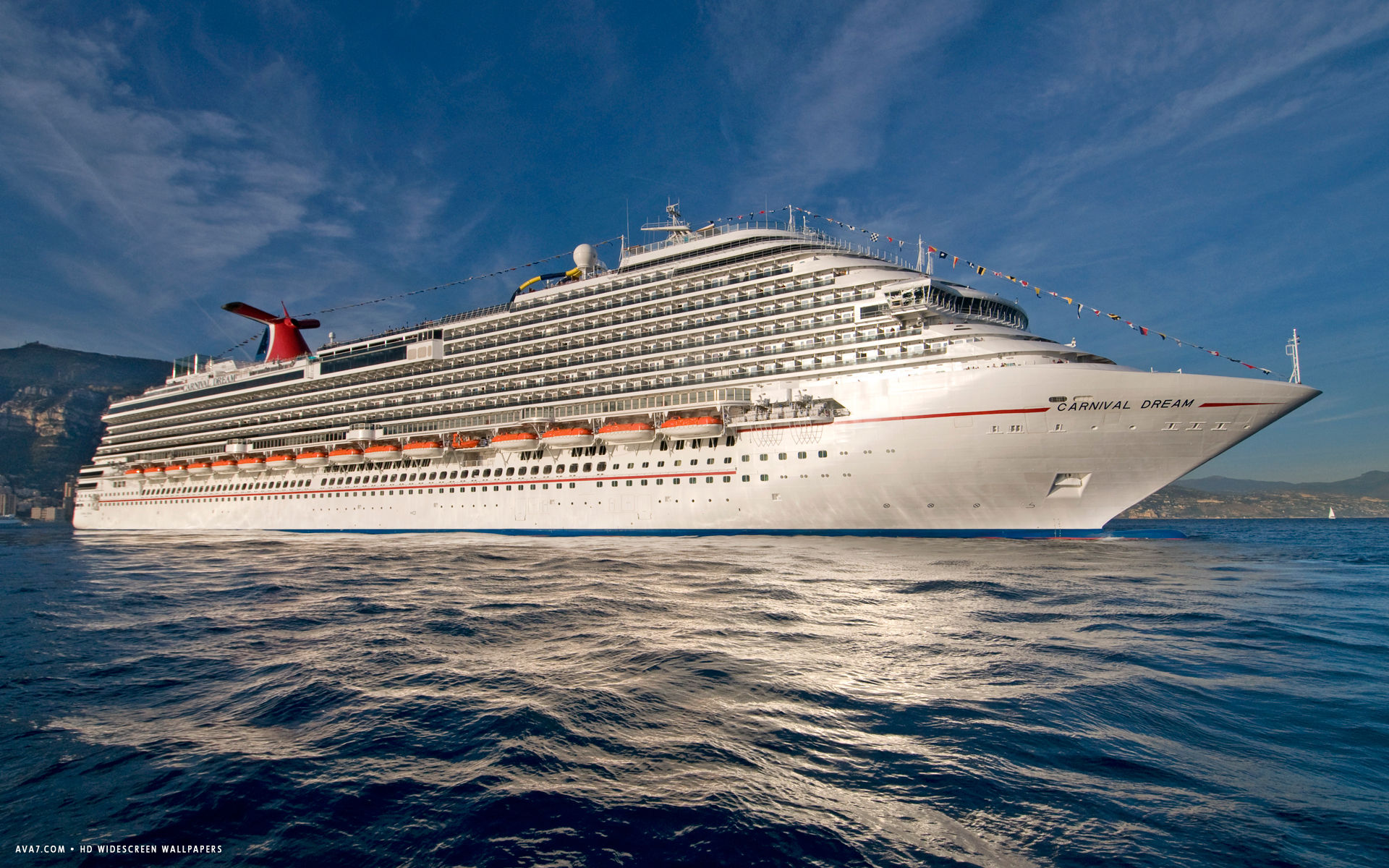 carnival dream cruise ship hd widescreen wallpaper
