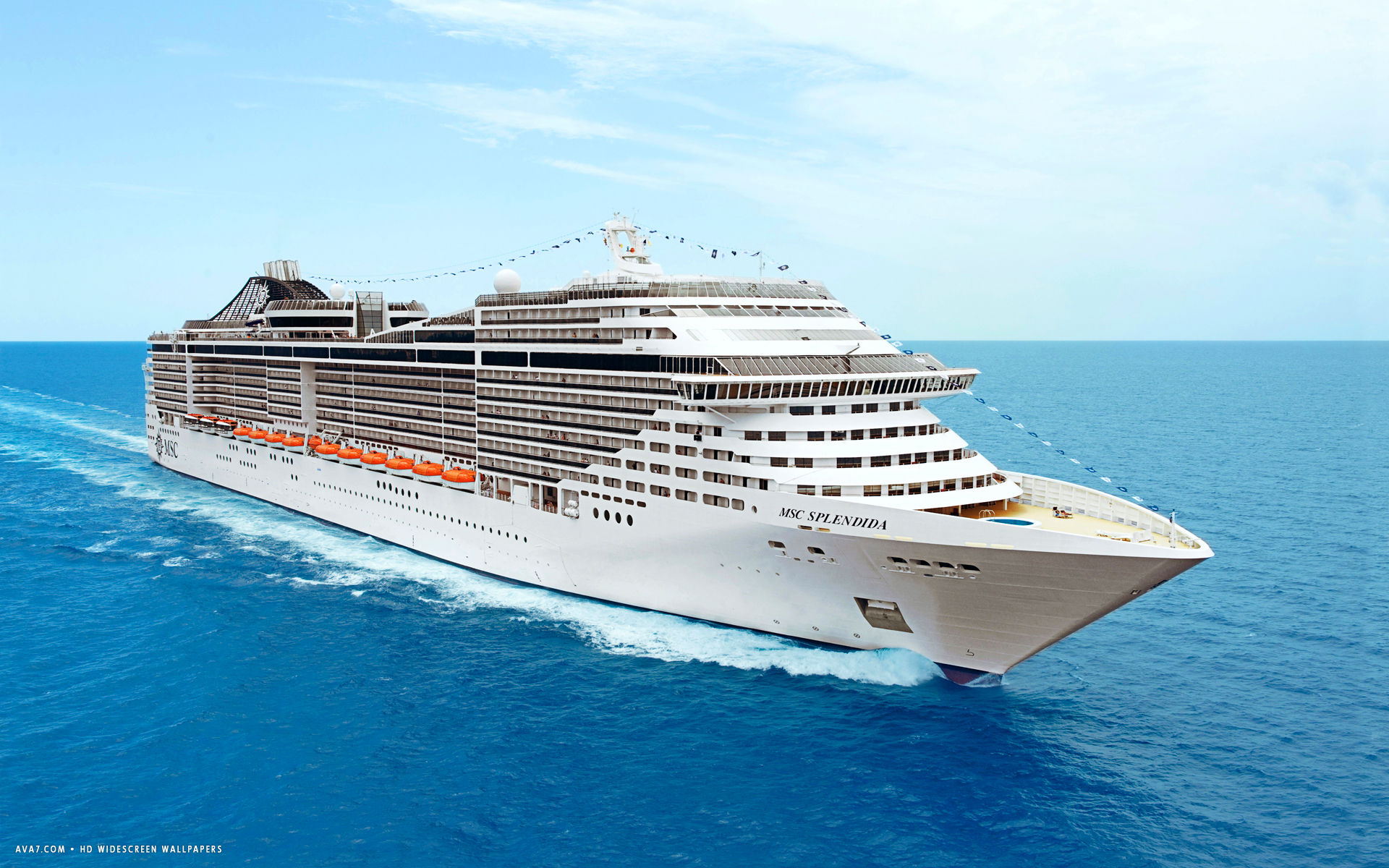 msc splendida cruise ship hd widescreen wallpaper