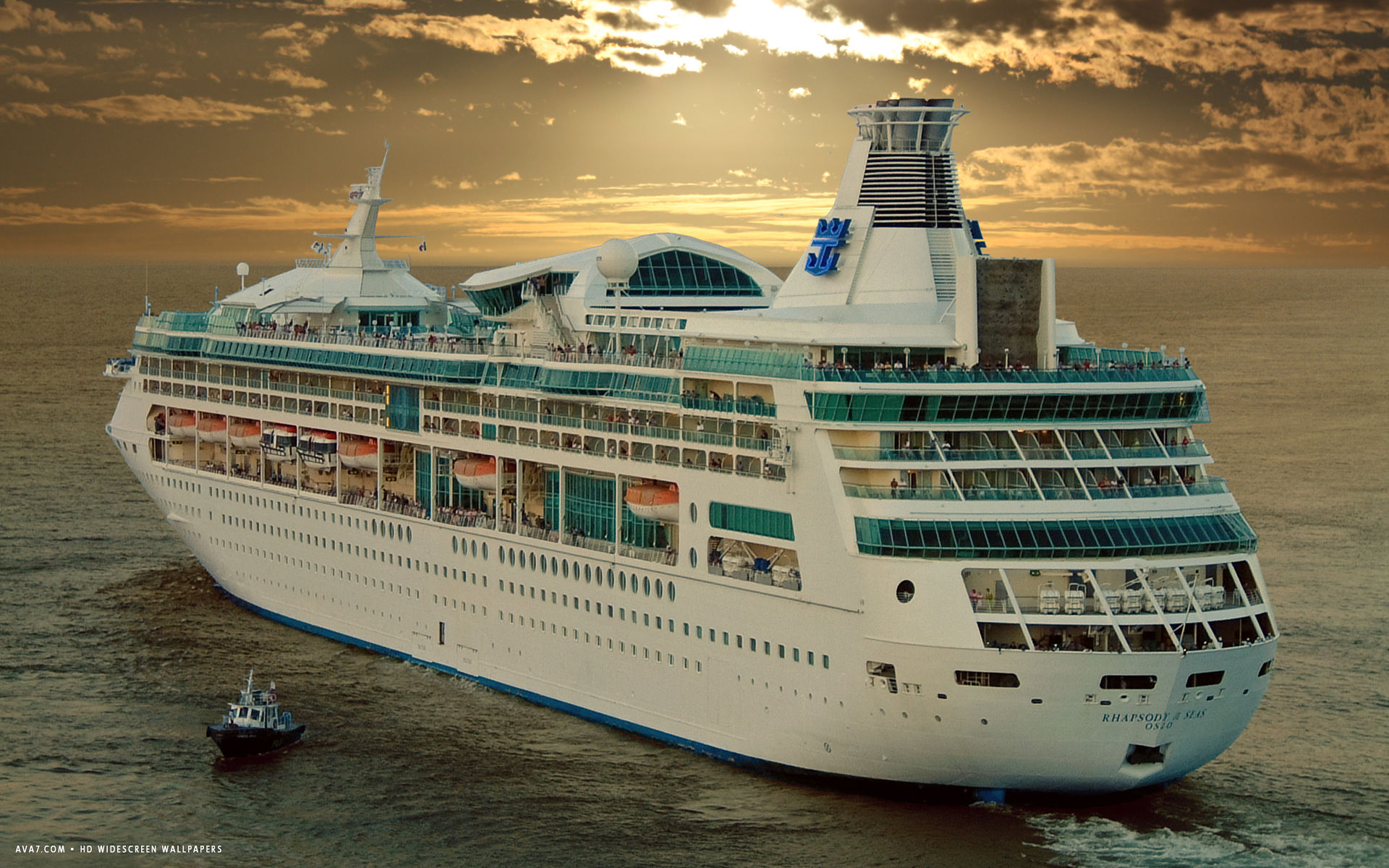rhapsody of the seas cruise ship hd widescreen wallpaper