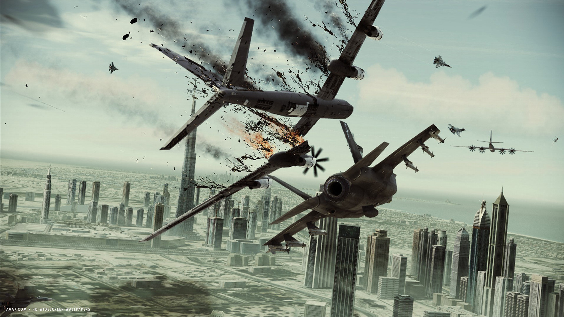 Ace Combat Assault Horizon Game Planes City War Hd
