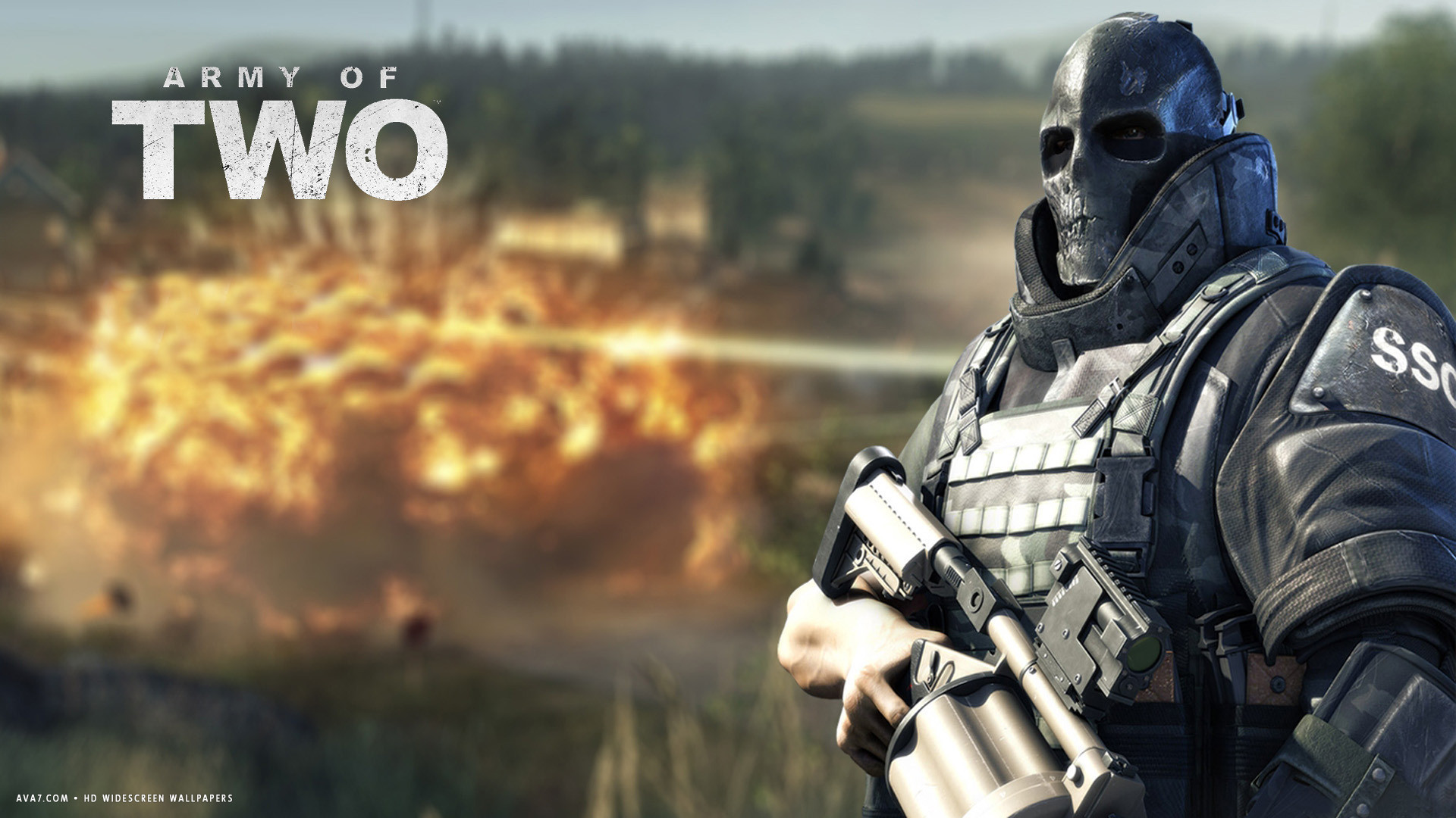 army of two game rios ballistic face mask soldier hd widescreen