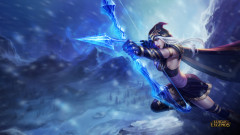 league of legends game lol ashe girl bow