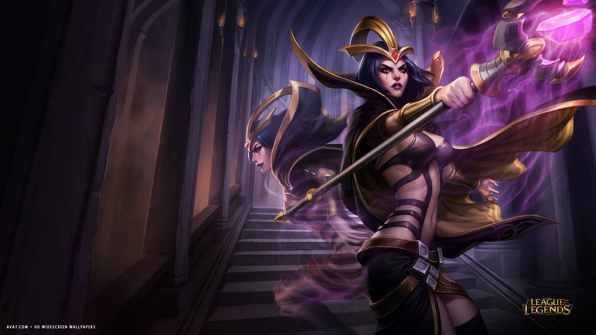league of legends game lol leblanc magic ghost hd widescreen wallpaper