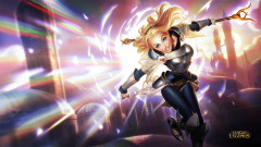 league of legends game lol lux girl blonde magic