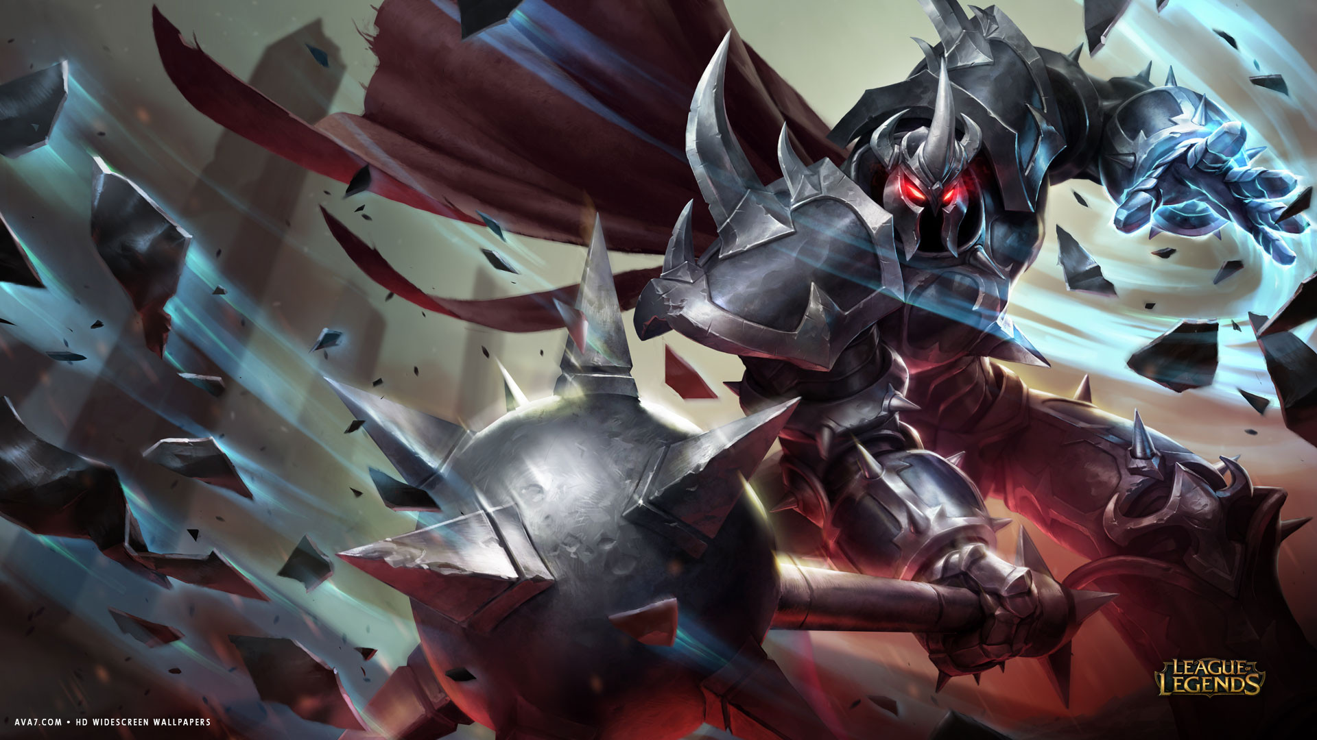 league of legends game lol mordekaiser big monster iron armor hd widescreen wallpaper