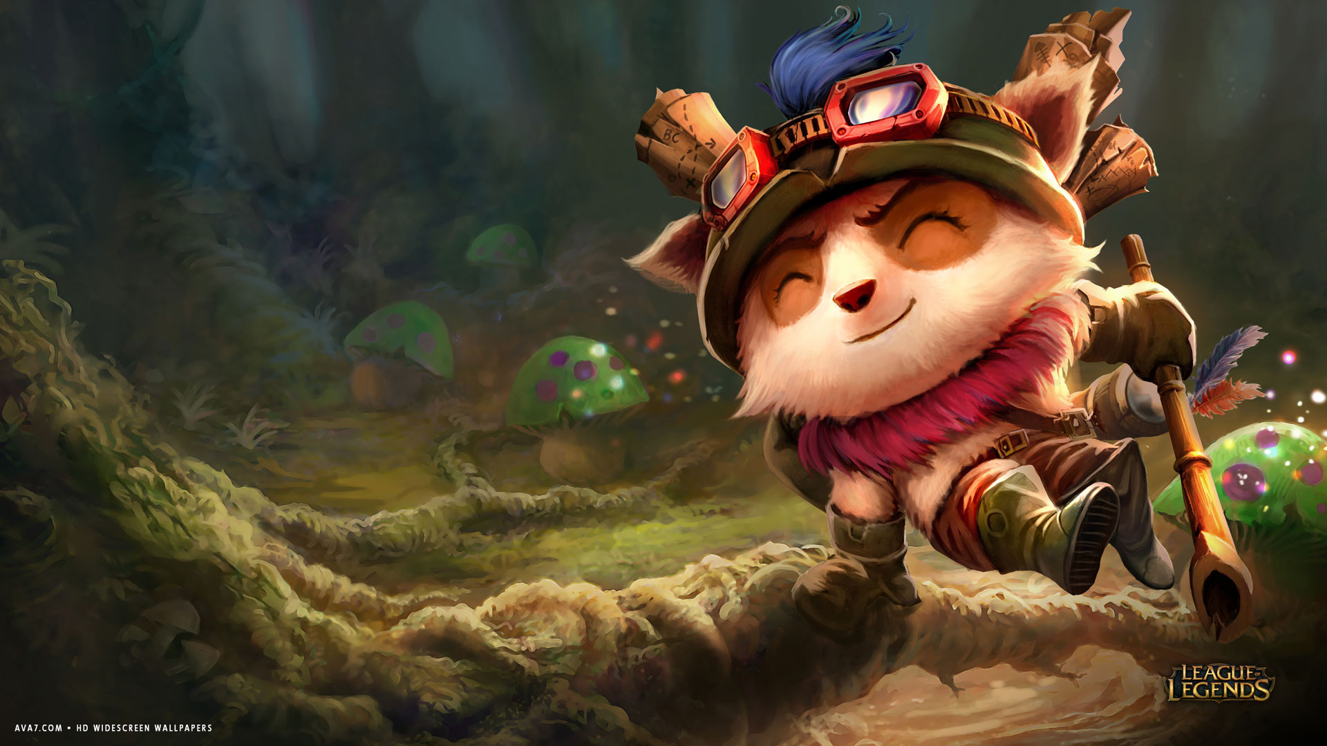league of legends game lol teemo small cute hd widescreen wallpaper