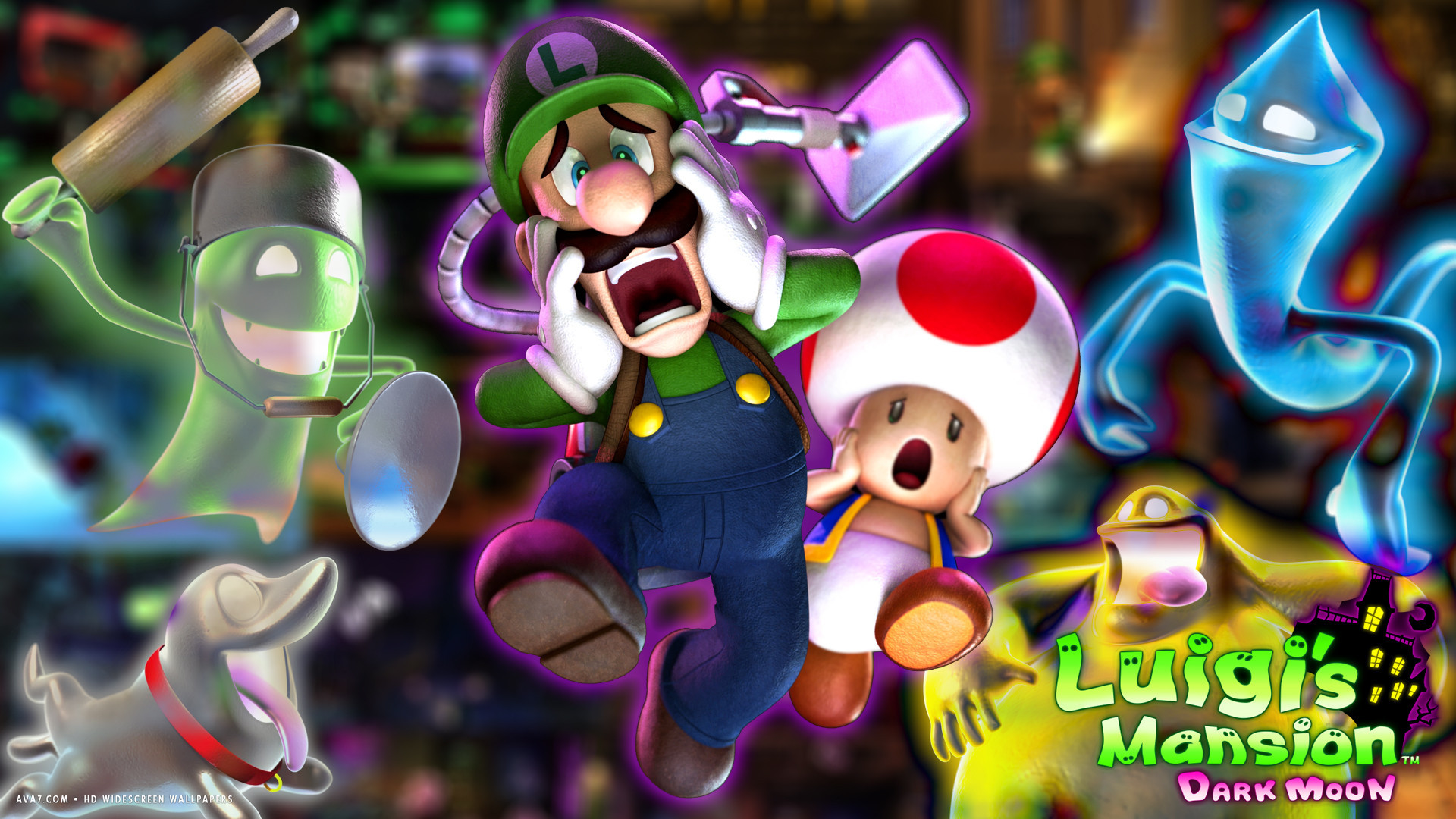 luigis mansion 2 game dark moon hd widescreen wallpaper