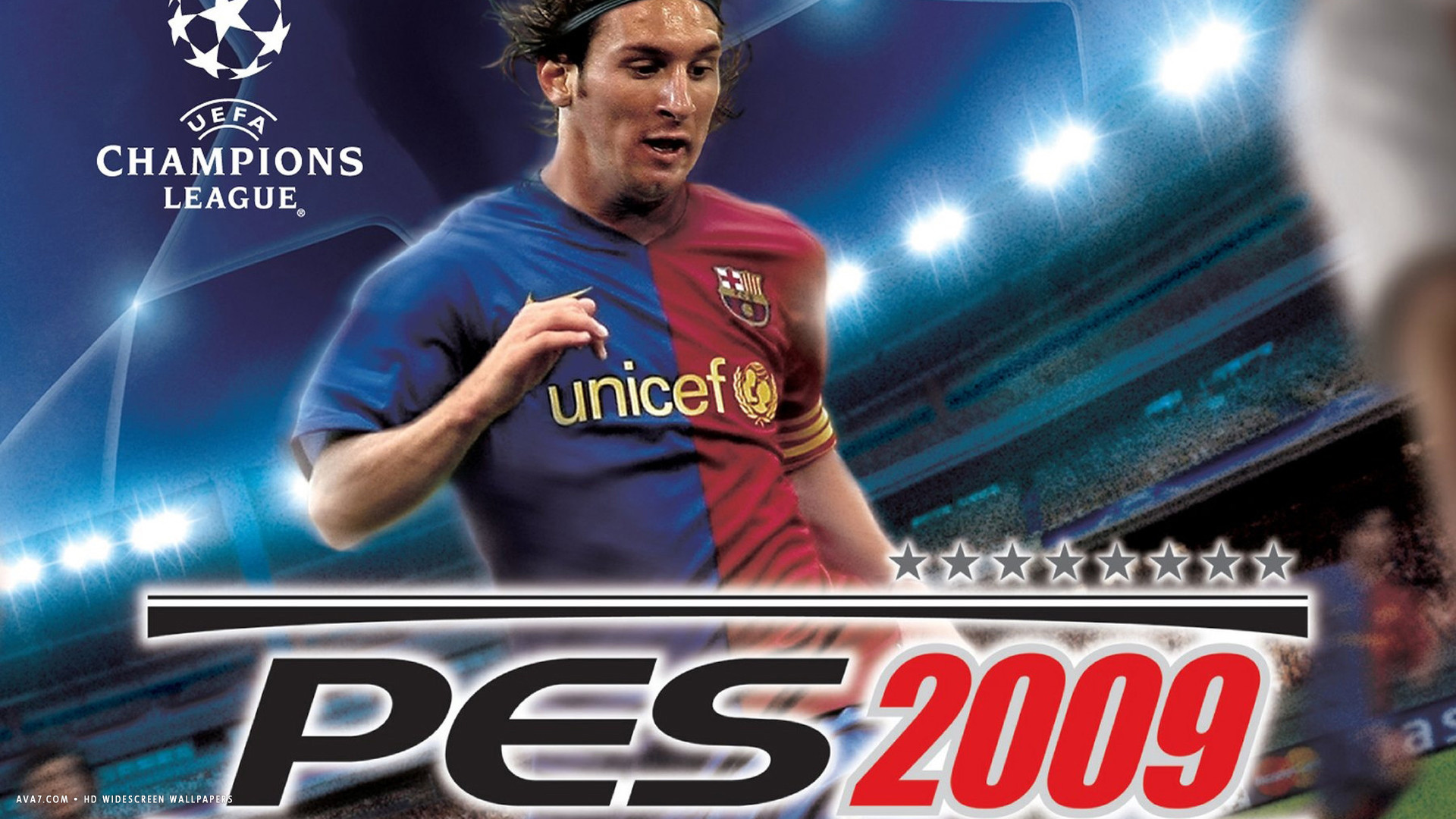 pro evolution soccer 2009 game hd widescreen wallpaper