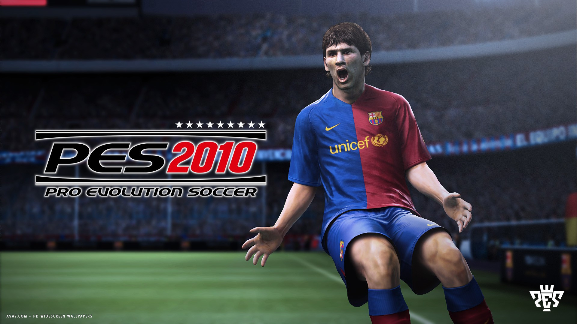 pro evolution soccer 2010 game pes hd widescreen wallpaper