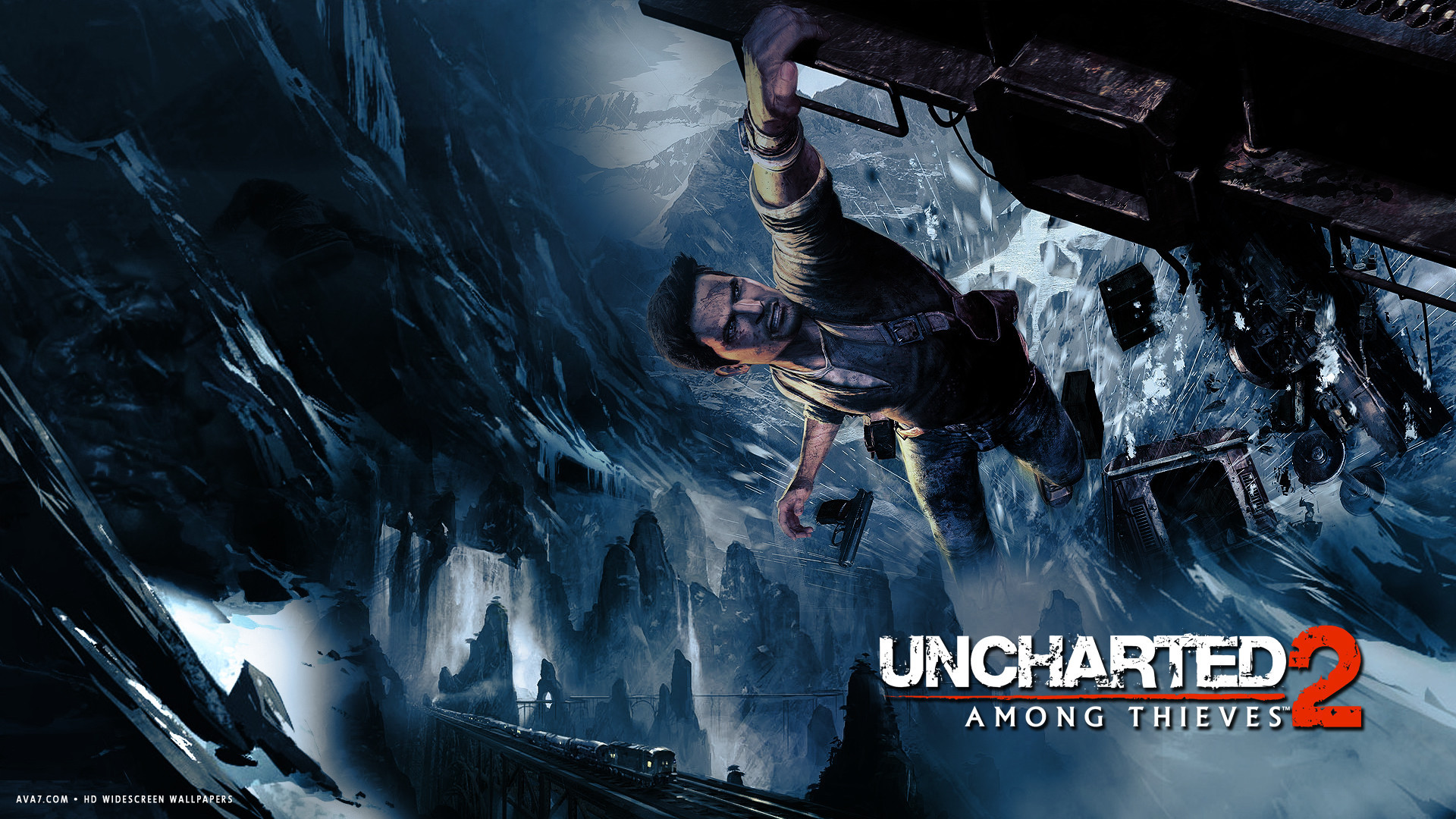 uncharted 2 among thieves game hd widescreen wallpaper