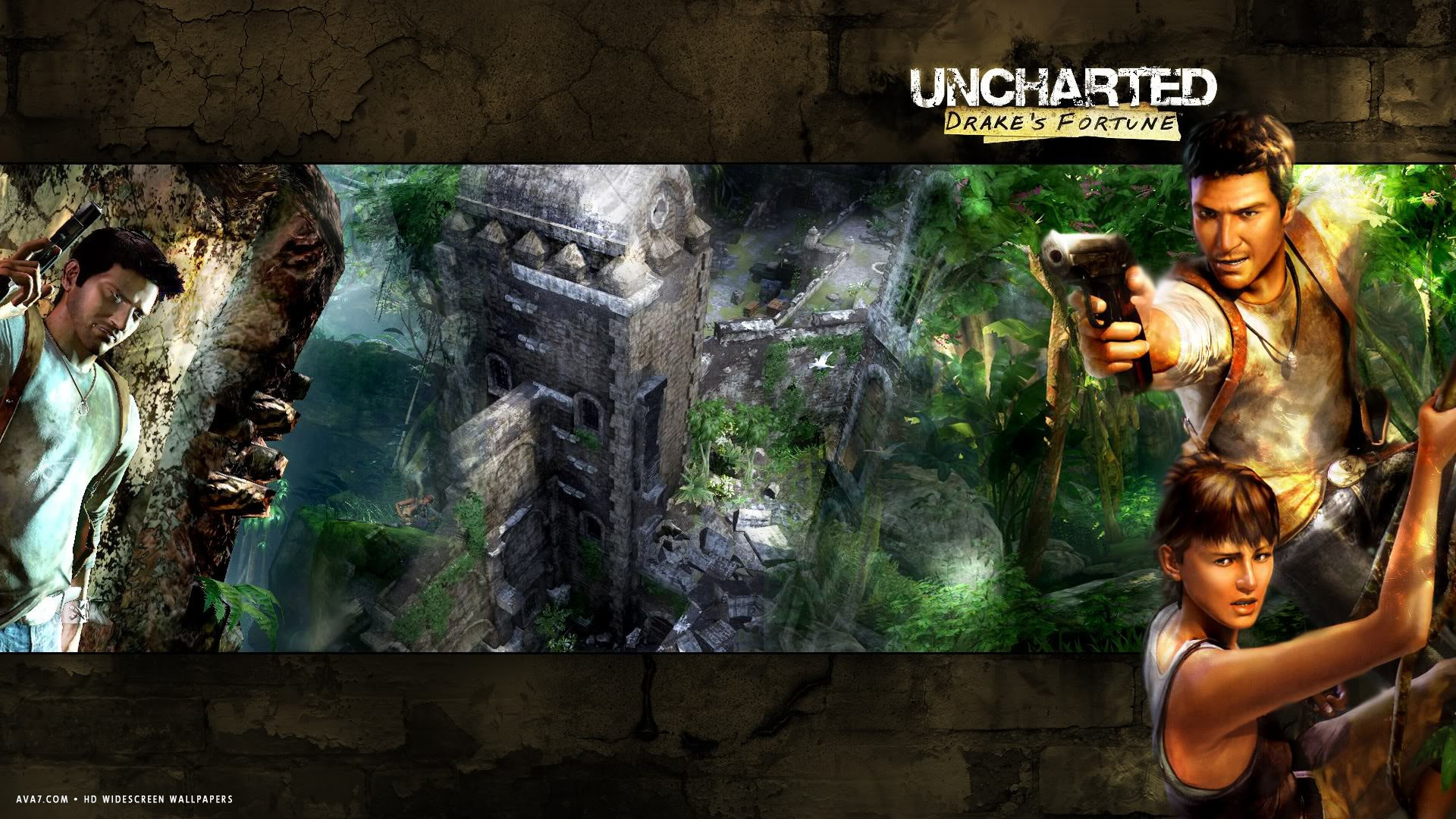 Uncharted Drakes Fortune Game Hd Widescreen Wallpaper
