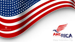 happy independence day 4th of july america flag vector holiday