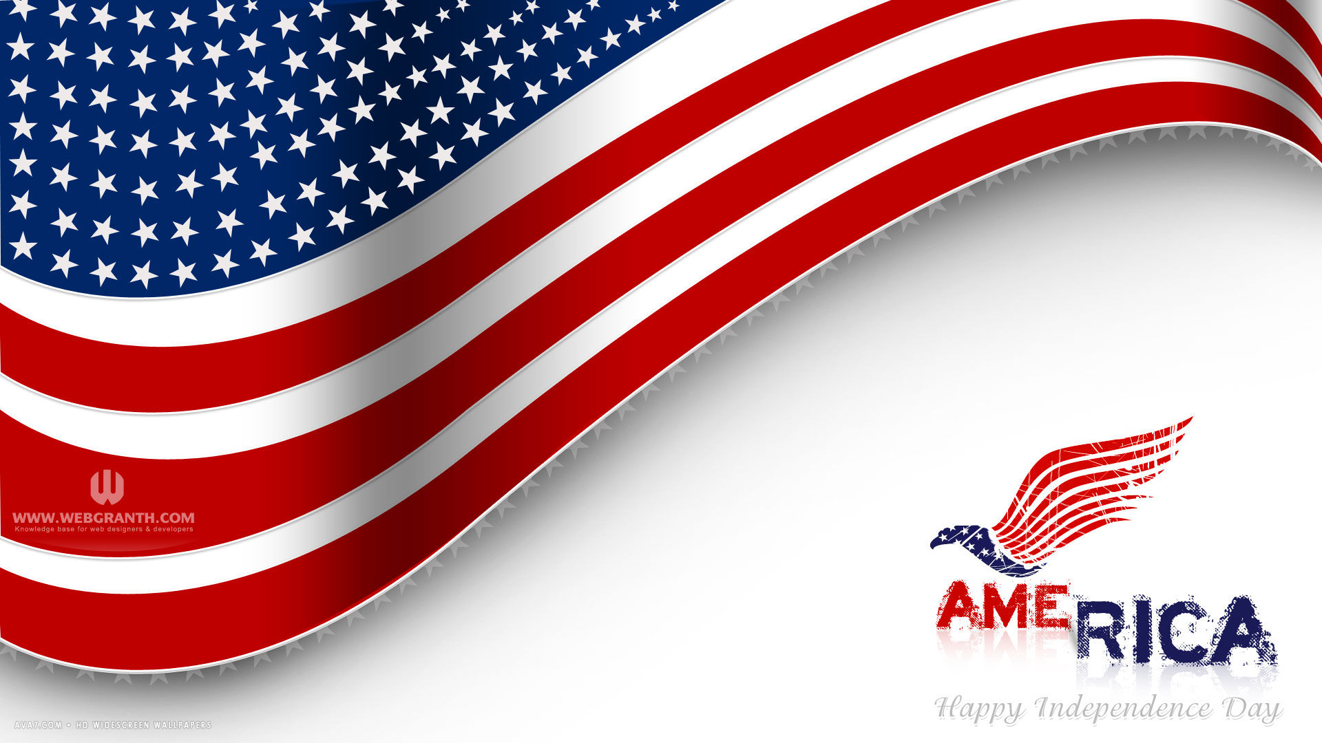 happy independence day 4th of july america flag vector holiday hd