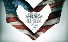 united states of america independent since 1776 4th of july heart hand sign holiday