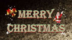 merry christmas text sant jingle bells holiday
