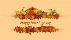 happy thanksgiving pumpkin corn apples pear leaves holiday