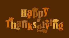 happy thanksgiving text orange brown vector art holiday