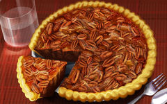 thanksgiving day food pecan pie slice holiday