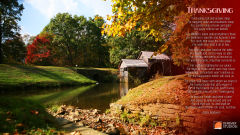thanksgiving day song prayer eddie mallonen scenery river watermill holiday