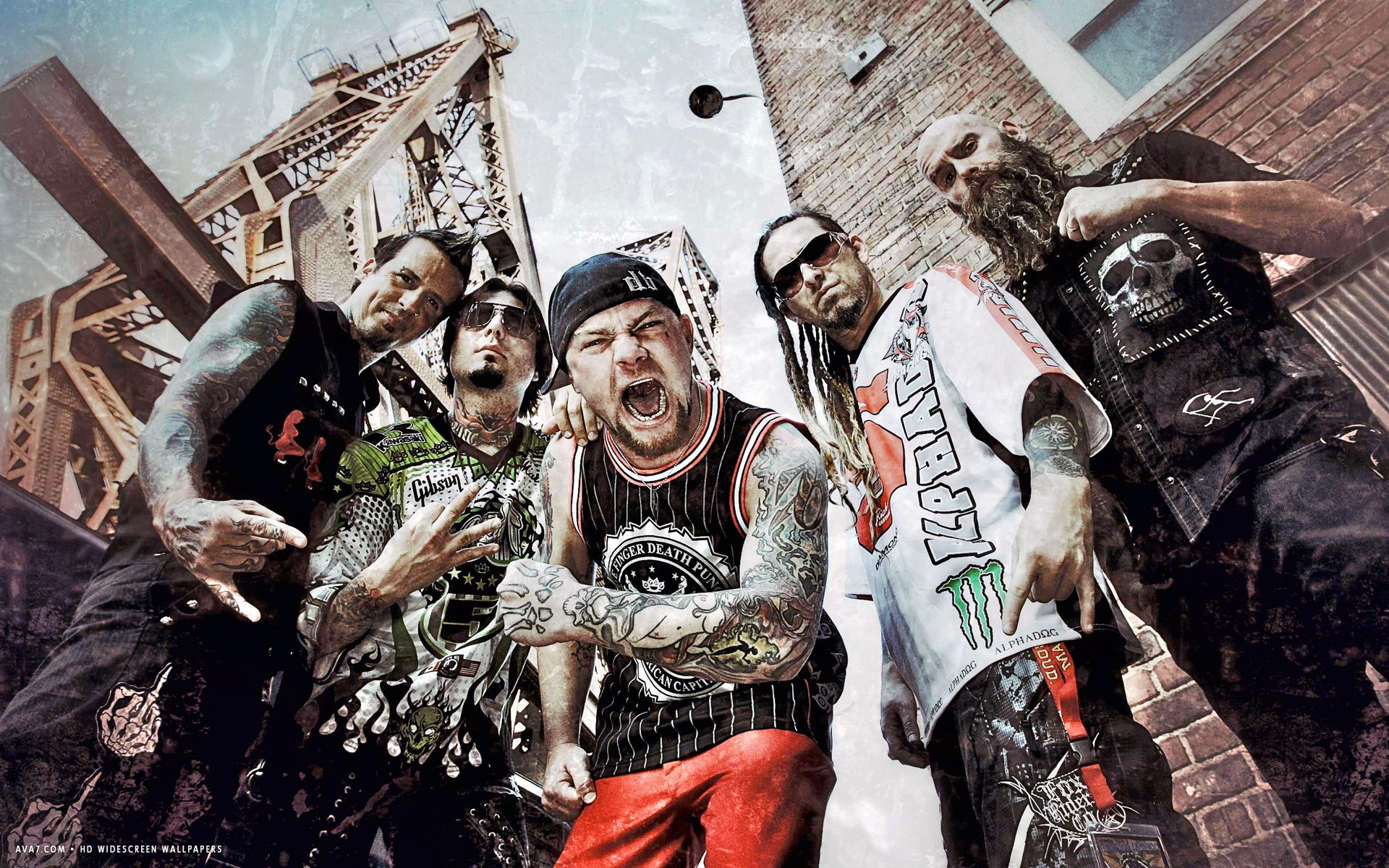five finger death punch music band group hd widescreen