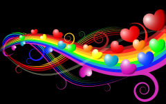 heart abstract hearts rainbow colors lines