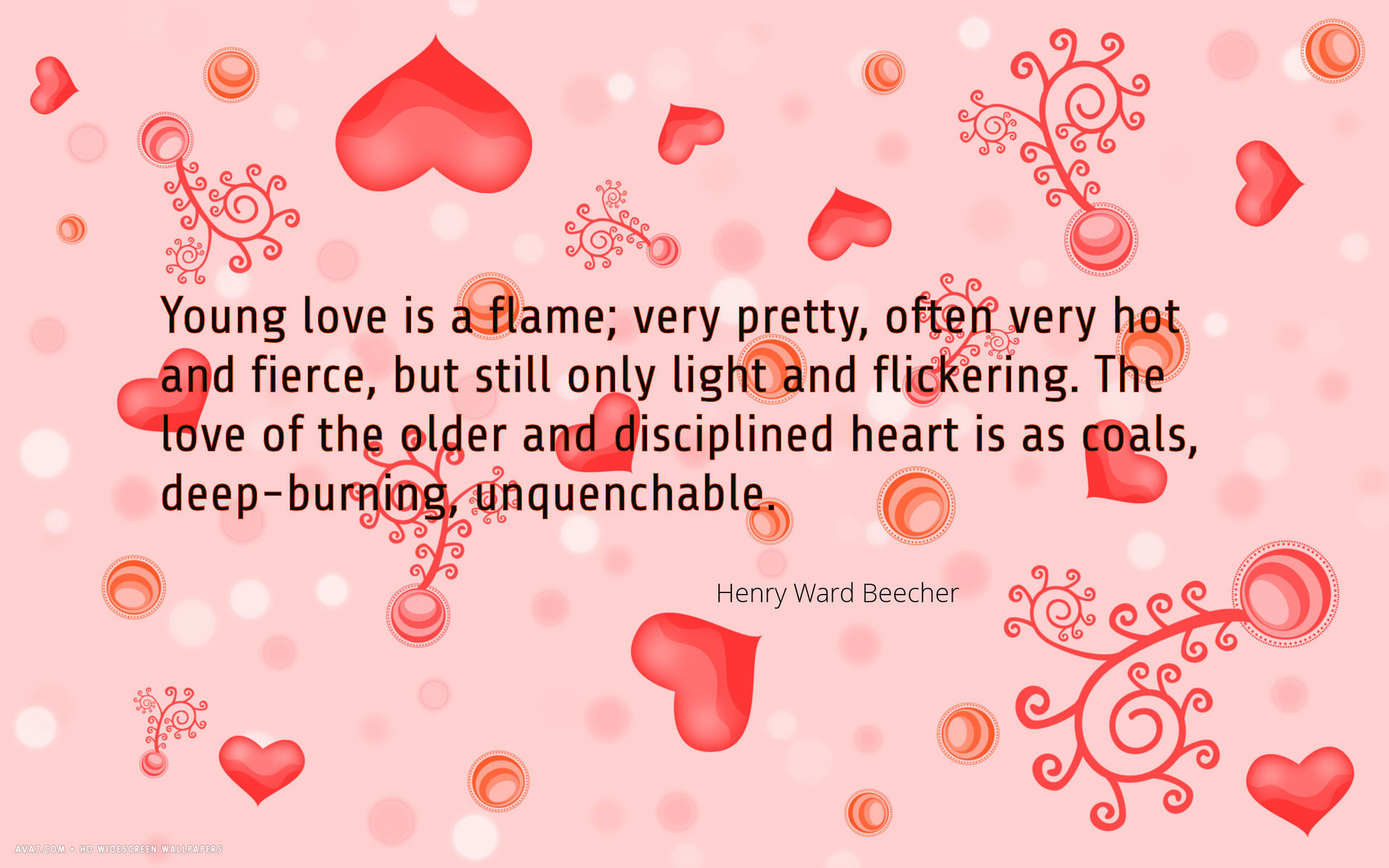 Wwwlove Quotes Love Quote Young Flame Old Coal Hearts Henry Ward Beecher Hd