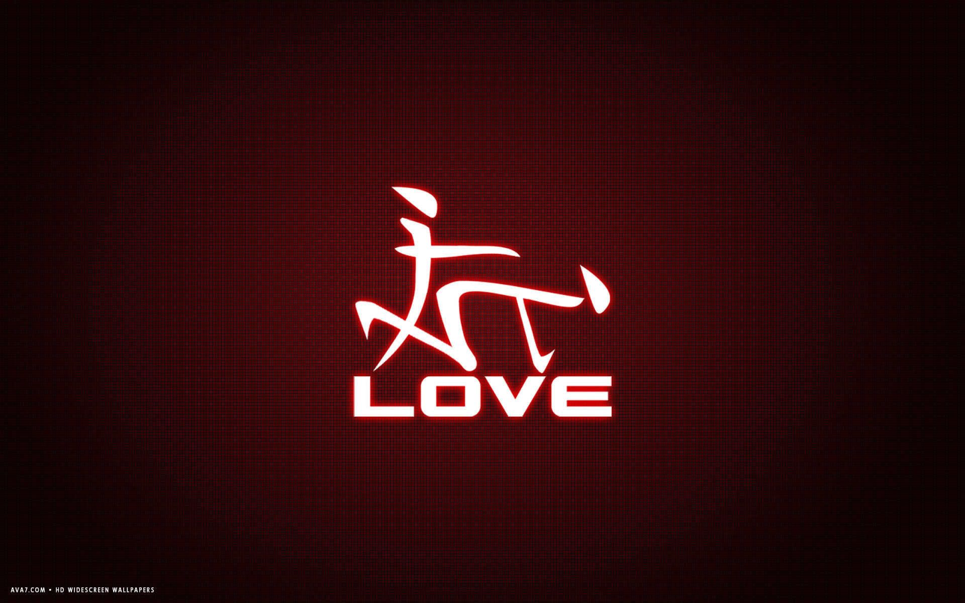 Love Word Japanese Letters Funny Red Simple Hd Widescreen Wallpaper