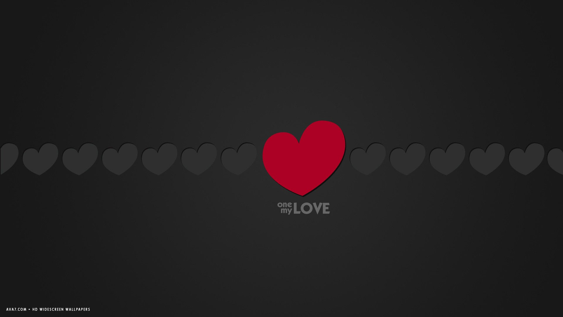 Love Words Wallpaper Hd : love word one my love minimalistic red grey hearts hd widescreen wallpaper / romantic backgrounds