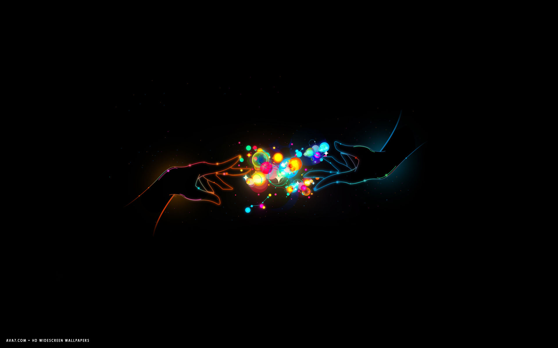 Love Romantic Abstract Artistic Colorful Hands Magic Hd Widescreen