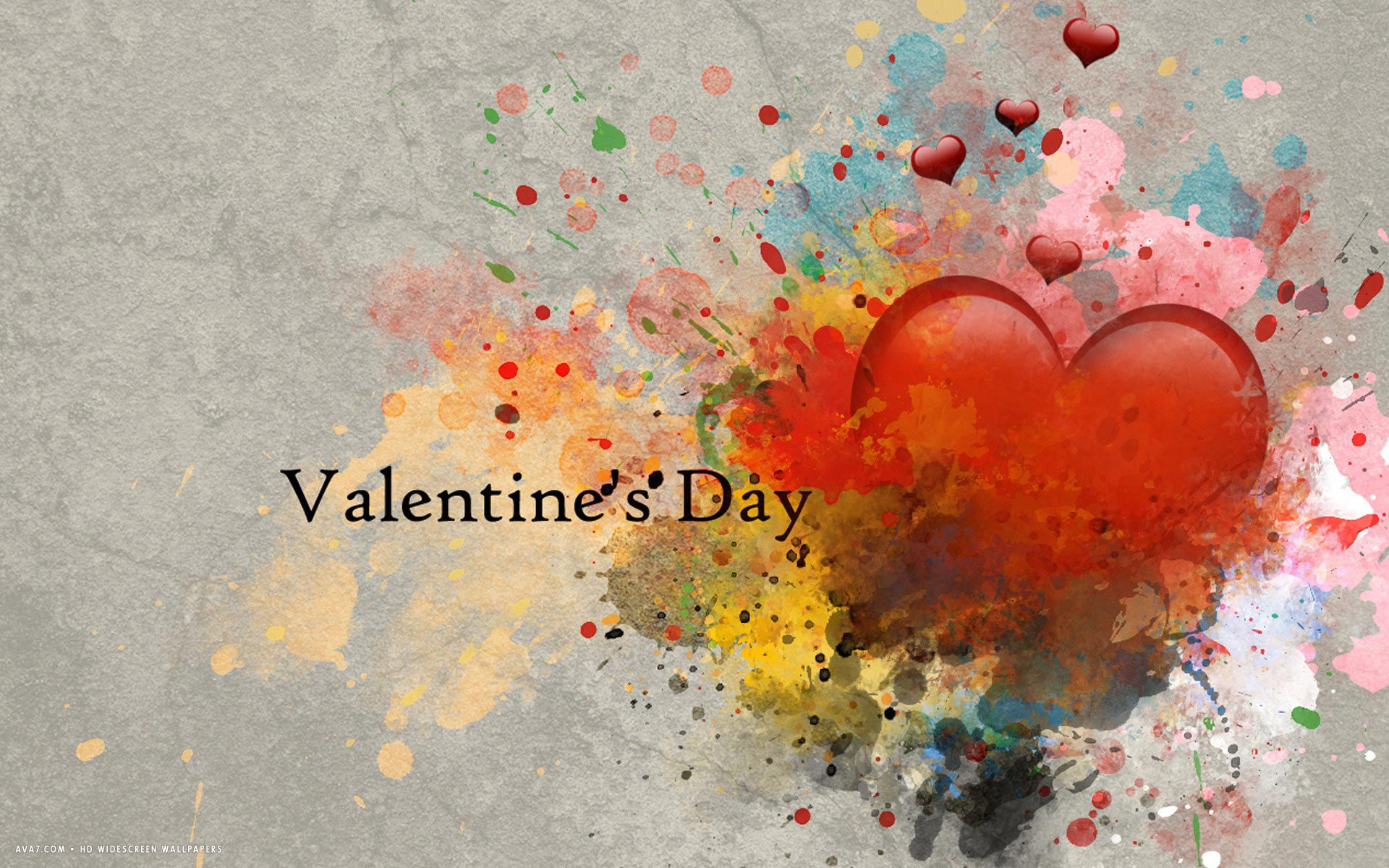 Valentines Day Red Heart Abstract Love Hd Widescreen Wallpaper