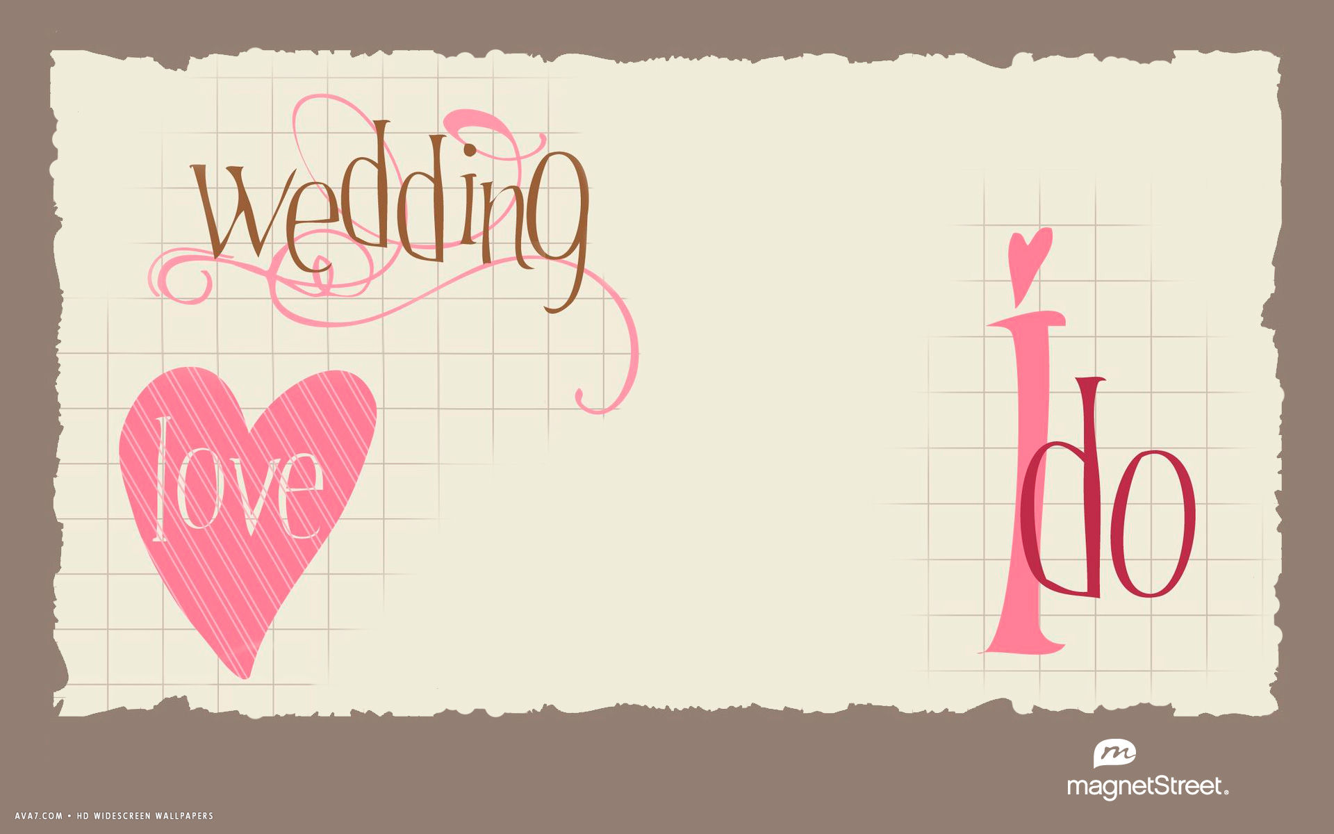 Wedding Love I Do Heart Card Letters Words Hd Widescreen Wallpaper