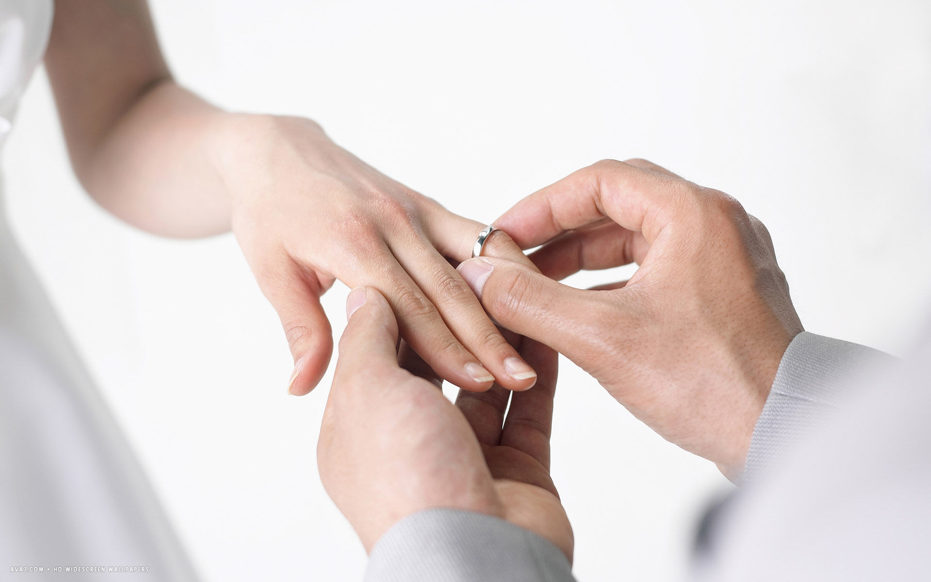 wedding ring hands marriage wife husband bride groom hd widescreen
