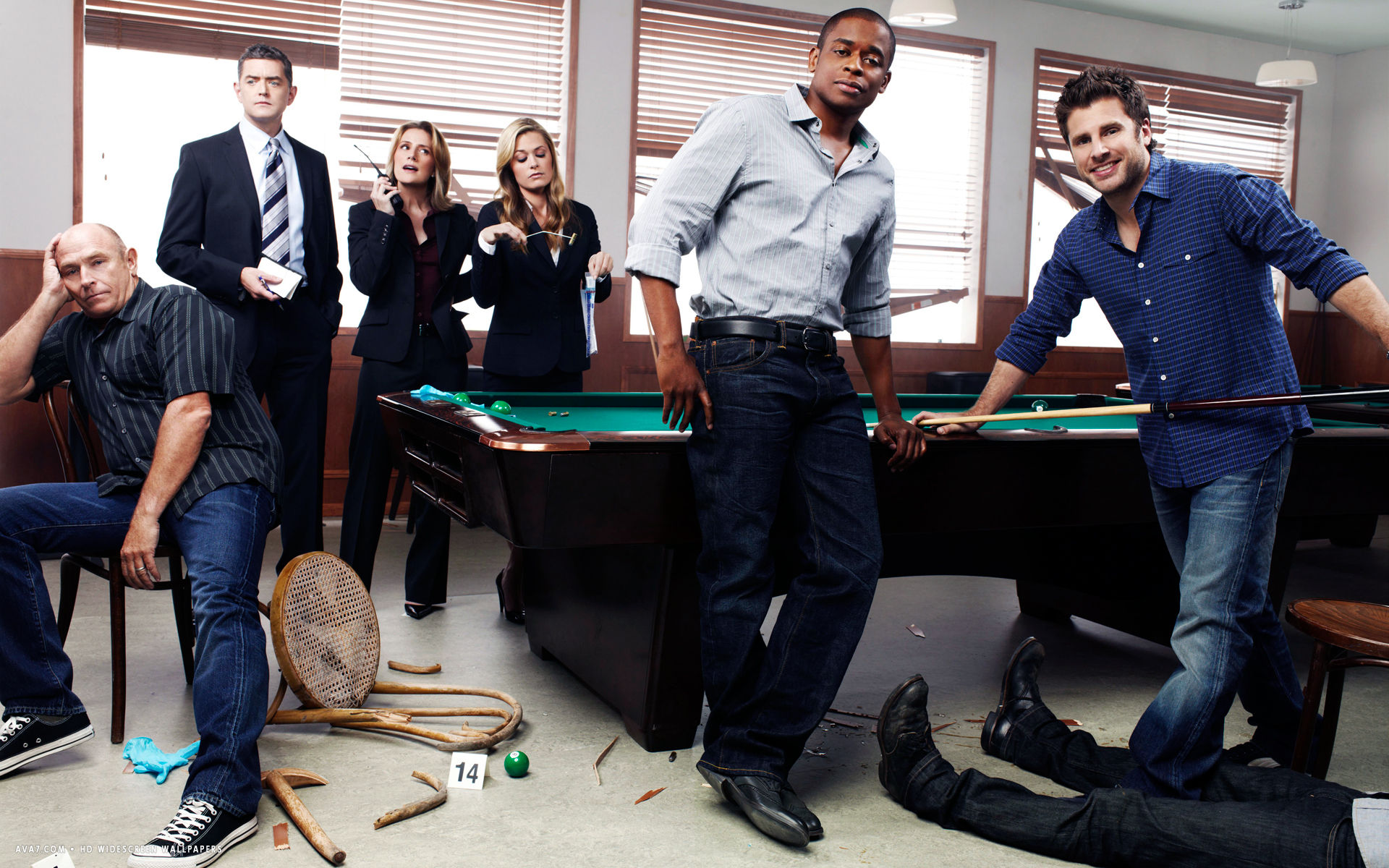 psych tv series show hd widescreen wallpaper