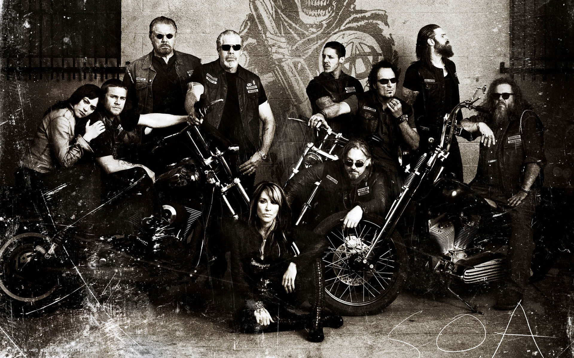 sons of anarchy tv series show hd widescreen wallpaper