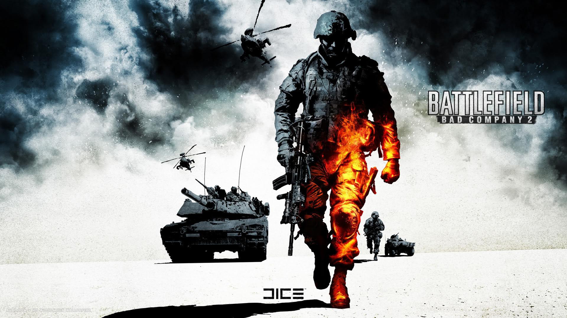 Battlefield Bad Company 2 Game Bfbc2 Artwork Hd Widescreen