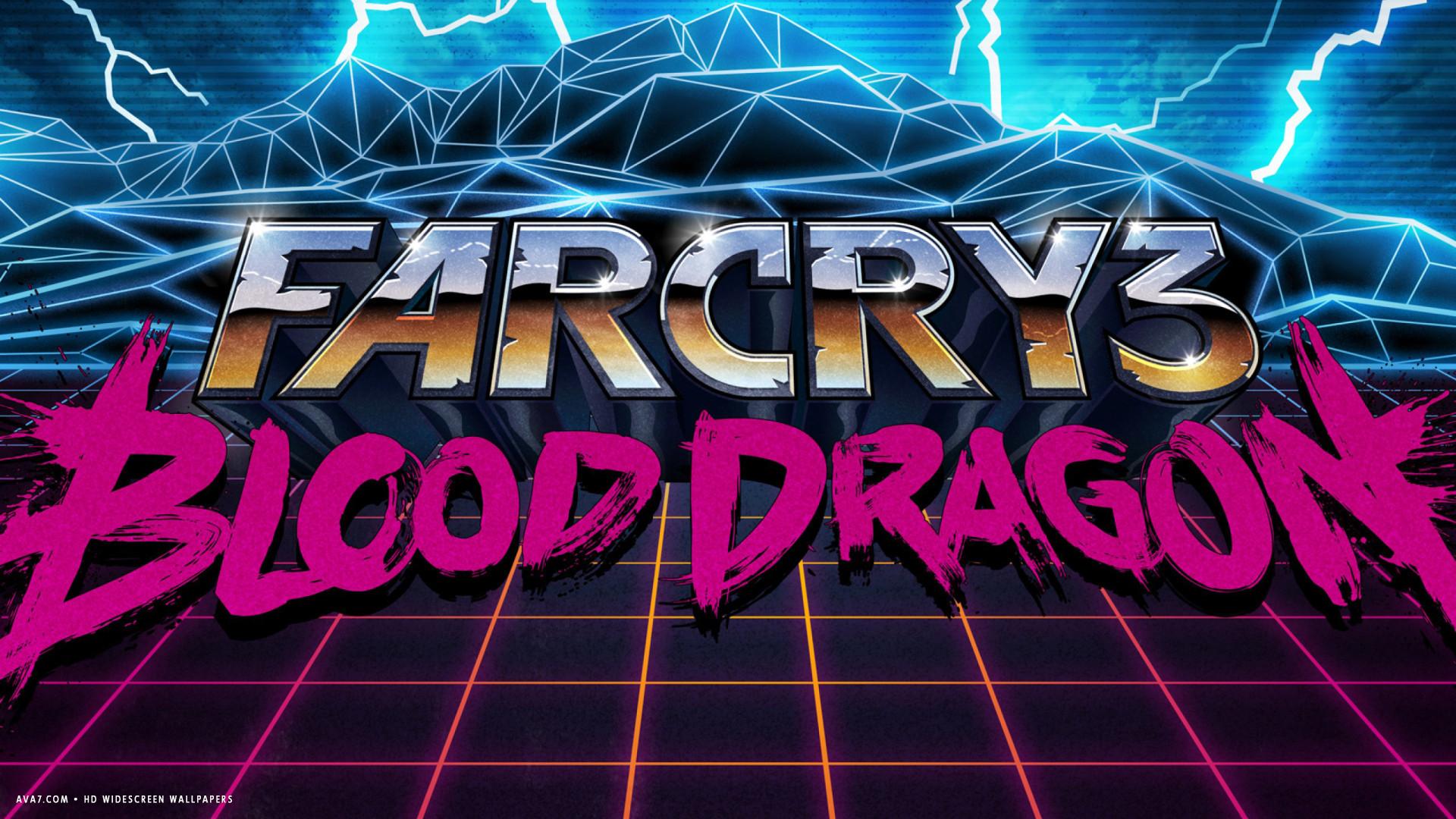 Far Cry 3 Blood Dragon Game Logo Hd Widescreen Wallpaper Games