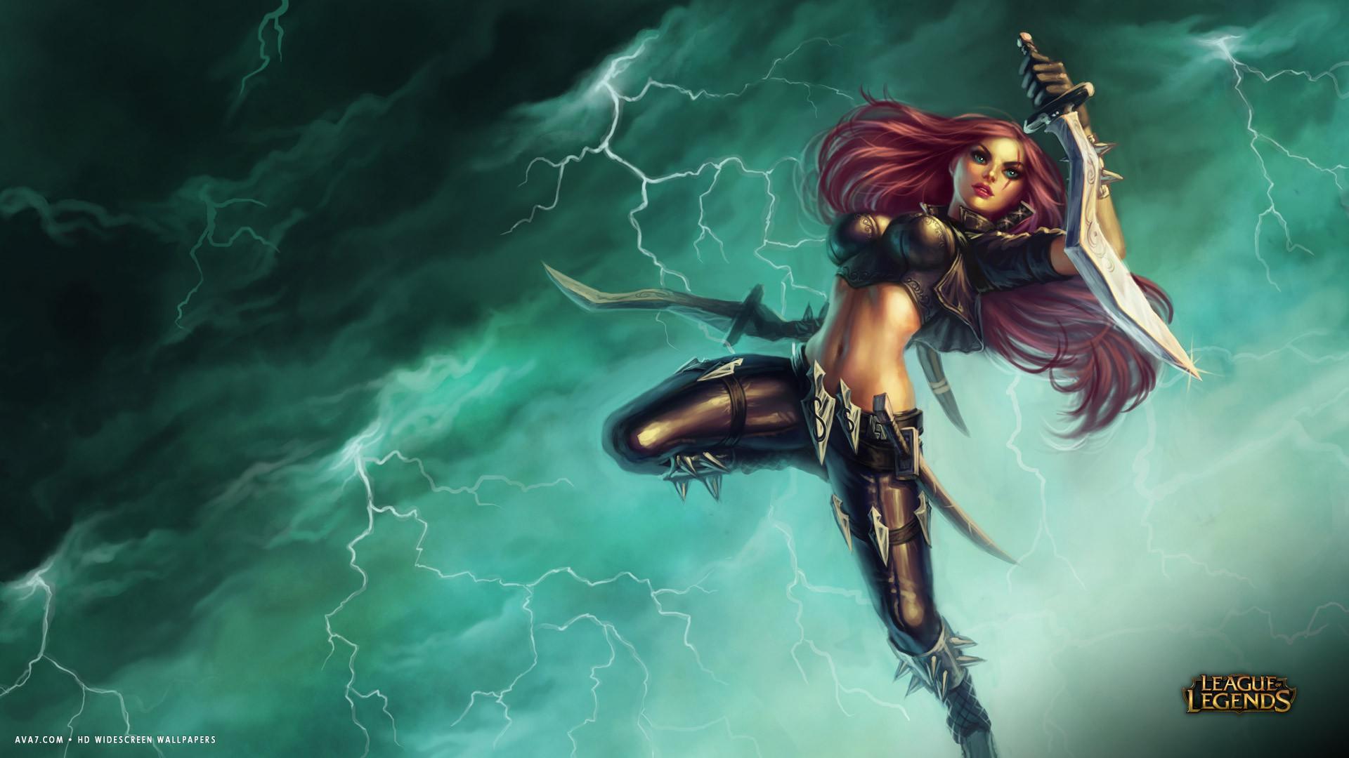 League Of Legends Game Lol Katarina Girl Hd Widescreen Wallpaper